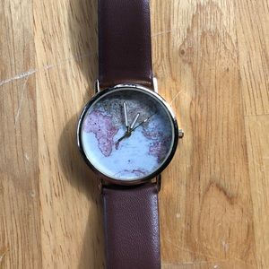 Brown Faux Leather Watch